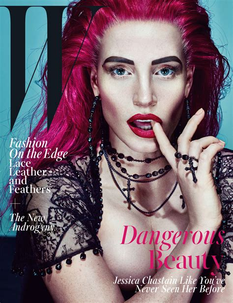 2015 w magazine cover october photos jessica chastain w magazine october 2015 cover