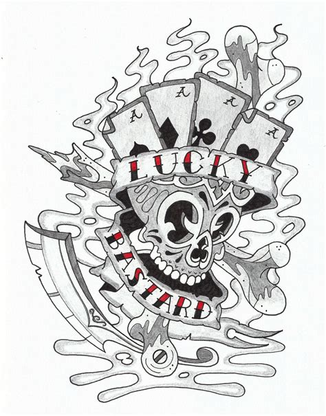 lucky tattoo designs lucky 7 designs www pixshark images