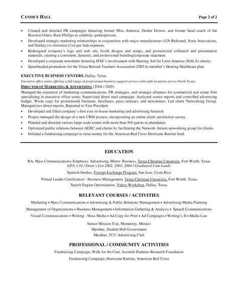 Advertising/ Marketing Director Resume
