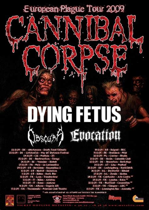oscura roma 13 10 2009 cannibal corpse dying fetus obscura