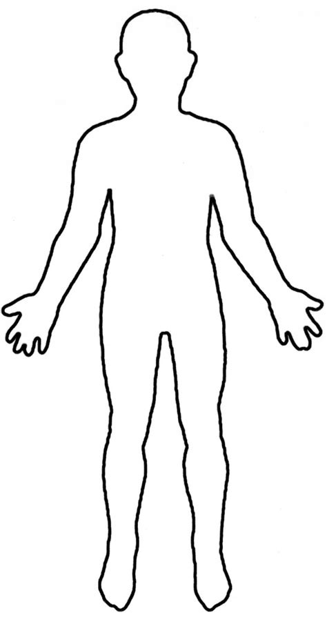Human Body Outline Printable Free Download Best Human Body Outline Printable On Clipartmag Com Human Template
