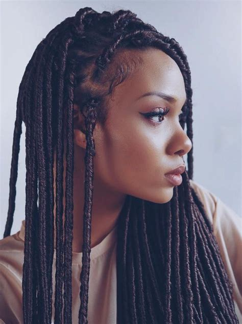 how to wear protective hairstyle on dreads 17 best ideas about faux locs styles on pinterest faux