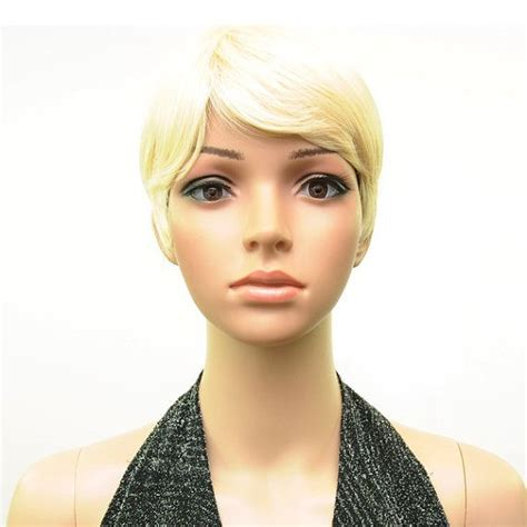 short cut for 70 sexy 613 blonde miley rihanna pixie short cut full wig