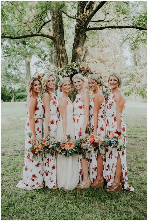 flower pattern bridesmaid dresses floral bridesmaid dresses are the latest trend in wedding