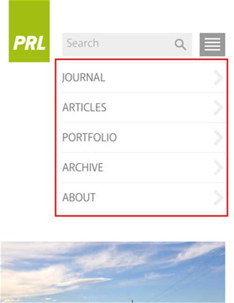css tutorial mobile mobile navigation design tutorial web designer wall