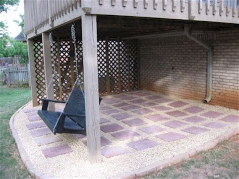 diy gravel and paver patio pea gravel and pavers diy patio home sweet home