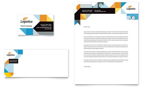 transport business card template logistics warehousing business card letterhead