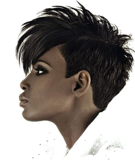 short precision haircut black women shaved mohawk hairstyles black women