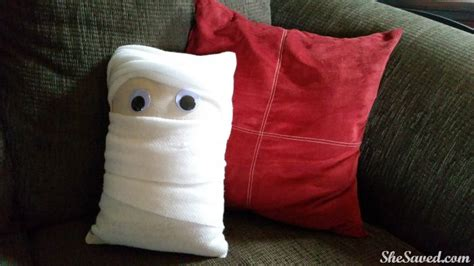 Just The Pillow by Decorating How To Make A Mummy Pillow Shesaved 174