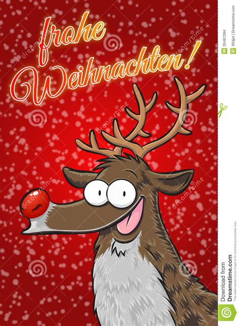 rudolph frohe weihnachten german stock images image