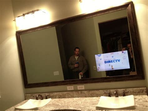 tv in bathroom mirror tv mirror photo gallery