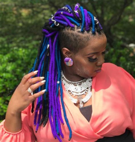 can you start off yarn braids into locs 20 playful ways to wear yarn dreads