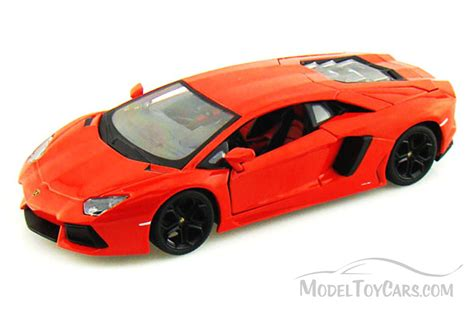 Model Car Lamborghini Aventador Lamborghini Aventador Lp700 4 Orange Bburago 11033 1