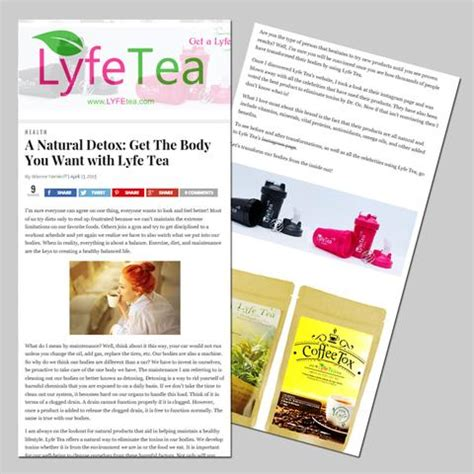 Lyfe Tea Detox Reviews by As Seen In Us Weekly Cosmos Dr Oz And So Much More