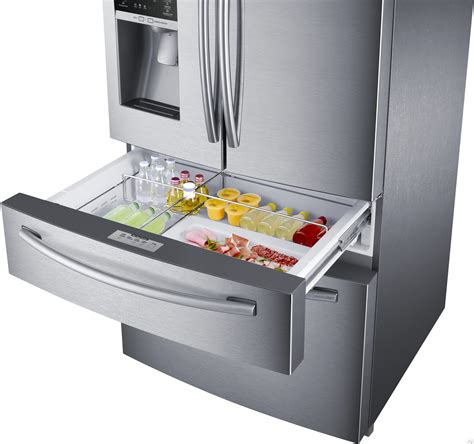 How To Clean Samsung Refrigerator Drawers by Samsung Rf28hmedbsr 28 15 Cu Ft Door Refrigerator