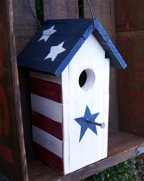 rustic patriotic birdhouse birdhouse bird houses and bird