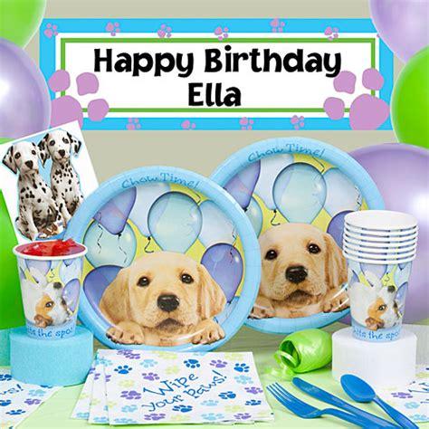 puppy birthday supplies theme birthday ideas plan a puppy