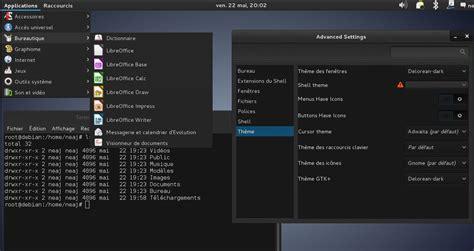linux bureau customiser l environnement gnome commandes et syst 232 me
