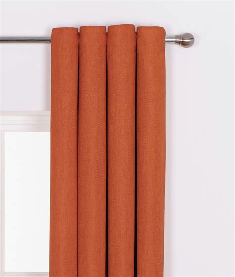 curtains from argos heart of house hudson lined eyelet curtains 116x137cm russet