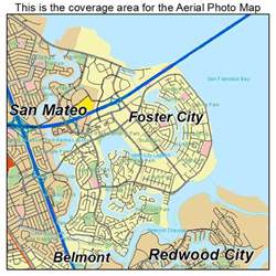 aerial photography map of foster city ca california
