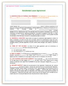 Residential Lease Template Word by Residential Lease Template Playbestonlinegames