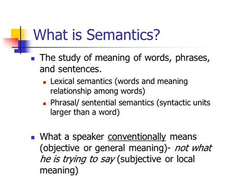 semantics the analysis of meaning ppt video online download
