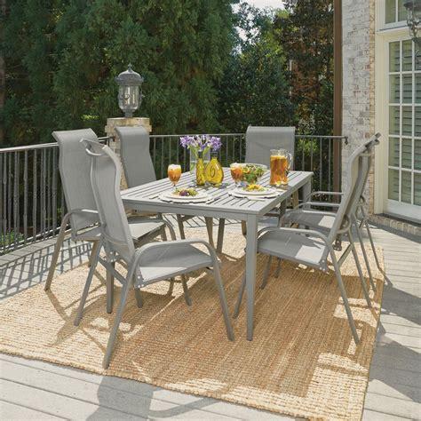home styles daytona charcoal gray  piece aluminum