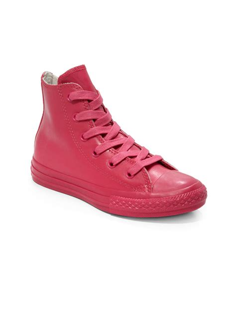 Convers Rubber Pink converse rubber all high top sneakers in pink