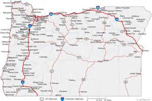 oregon county map with major cities free map of oregon map travel holidaymapq