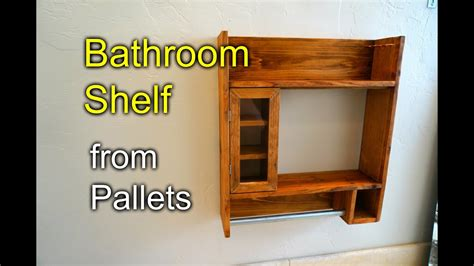 bathroom shaving shelf  pallet wood   youtube
