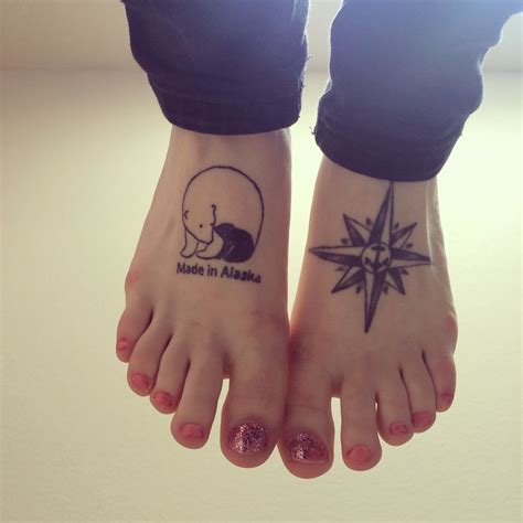made in tattoo designs made in alaska polar bears compass anchor foot