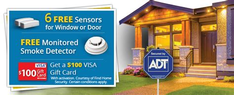 free adt monitored home security equipment promotions
