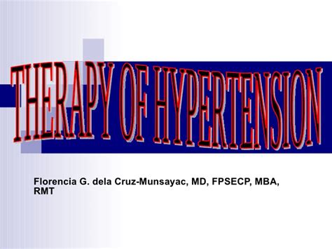 Maryland Mba Class Profile by T Herapy Of Hypertension1