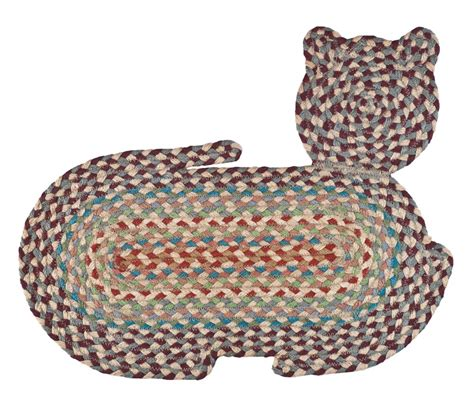 shaped braided rugs kimball cat shaped braided rug ebay