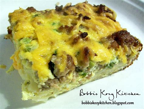 make ahead sausage breakfast casserole bobbi s kozy kitchen