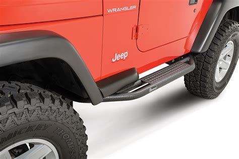 jeep wrangler side quadratec qrc side armor with step for 87 06 jeep wrangler