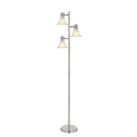 hton bay 64 1 2 in brushed nickel floor l af36006ca