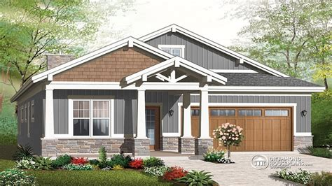 Craftsman House Plans One Story Craftsman House Plans With Garage Single Story Craftsman House Plans House Plans Craftsman