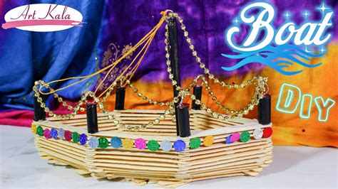 how to make a paper cruise boat how to make boat popsicle stick crafts diy artkala
