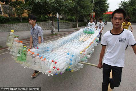 un barco hecho de botellas de plastico un barco chino hecho de botellas y demas curiosidades