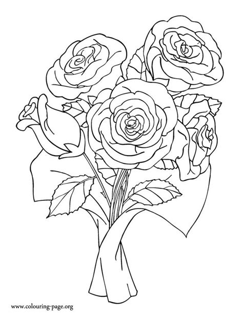 coloring pages of bunch of flowers 271 best rose art coloring pages images on pinterest