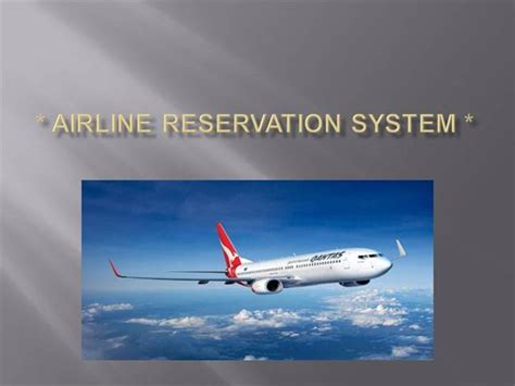 airline powerpoint templates airline reservation system project images