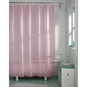 light pink vinyl shower curtain liner hotel