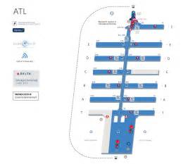 enterprise rental atlanta airport south terminal map