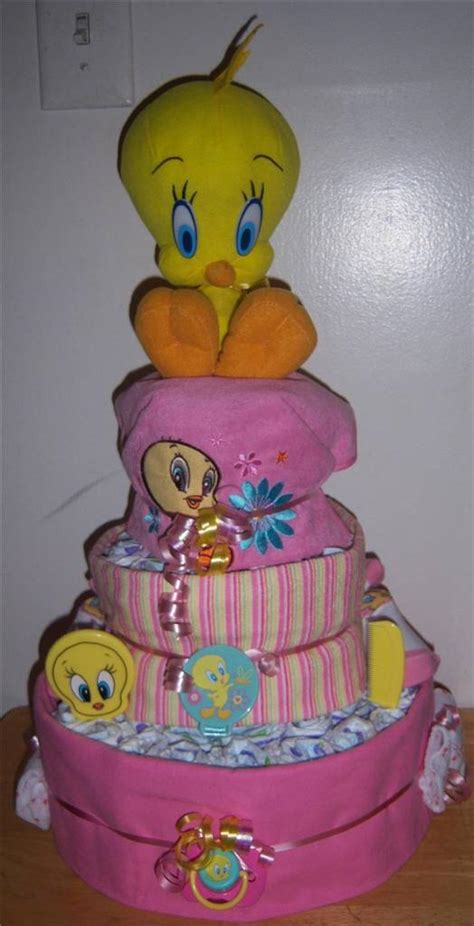 Tweety Bird Baby Shower by Baby Shower 3 Tier Looney Tunes Cake Taz Tweety
