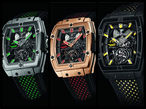 Hublot Senna 88 Black Leather three models hublot mp 06 senna tourbillon swiss
