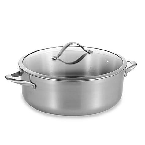 dutch oven bed bath and beyond calphalon 174 contemporary stainless steel 8 quart dutch oven