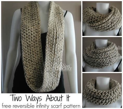 8 Ways To Wear Crochet by Free Infinity Scarf Pattern Two Ways About It Cre8tion