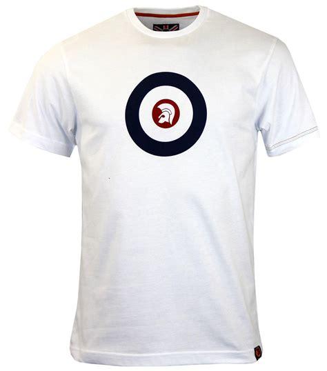 Tshirt Trojan Exclusive trojan records target retro mod ska logo t shirt in white