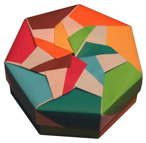 Activity Tv Origami - origami constructions heptagonal origami box folding